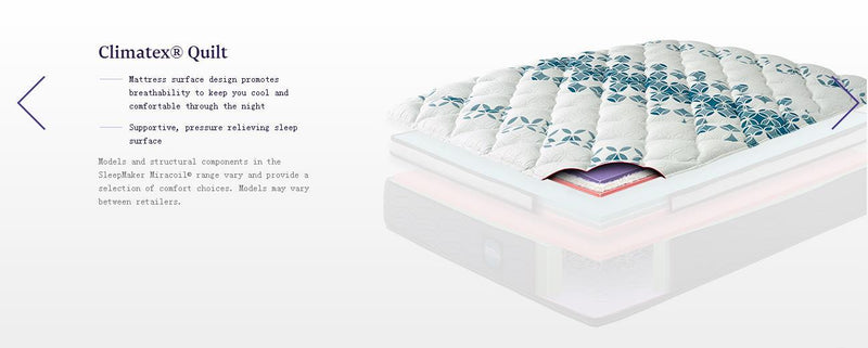 SleepMaker Miracoil Advance Mattress Designed For Bad Back