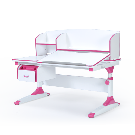 iStudy Kids Ergonomic Adjustable Desk C120 pink colour only at Sleep House Australia