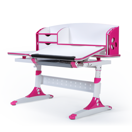 iStudy Kids Ergonomic Height Adjustable Desk Pink Color at Sleep House Brisbane