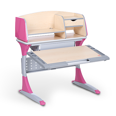 iStudy kids ergonomic adjustable desk S100B pink colour special price at Sleep House Melbourne