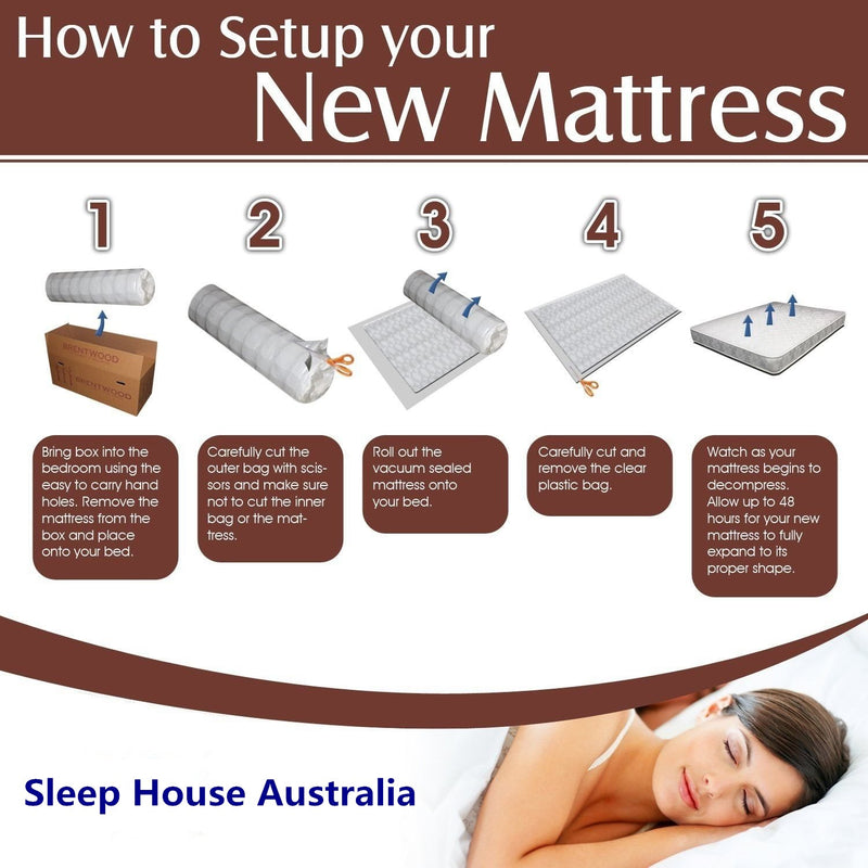 How to setup a mattress in a box by Sleep House Australia