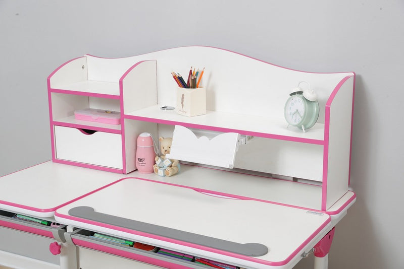 iStudy Kids Ergonomic Height Adjustable Desk R120 (Desk and Shelf)