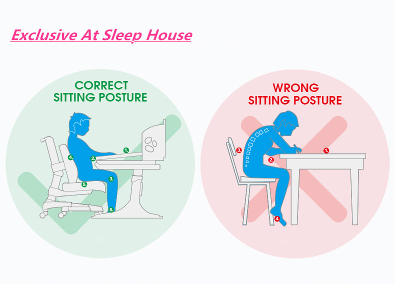 I Study Kids Ergonomic Adjustable Chairs Suitable for Ages 3-16