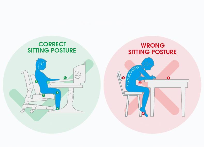 "iStudy Height Adjustable Chair C06 and C07 offers No more ""unhealthy sitting marathons""."