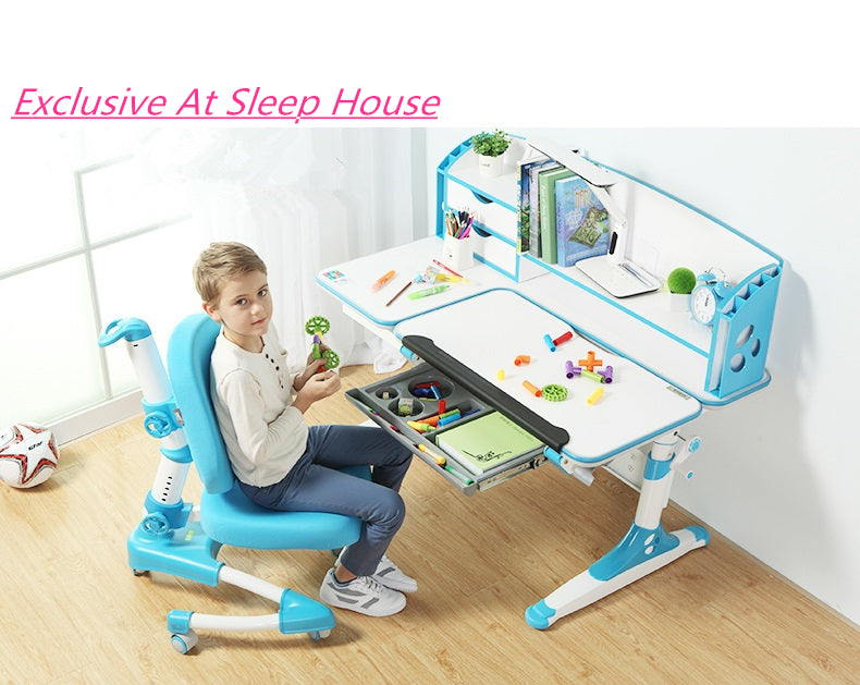 intelligent shelf wide blue chair store graphite study led light kids desktop and with top desk