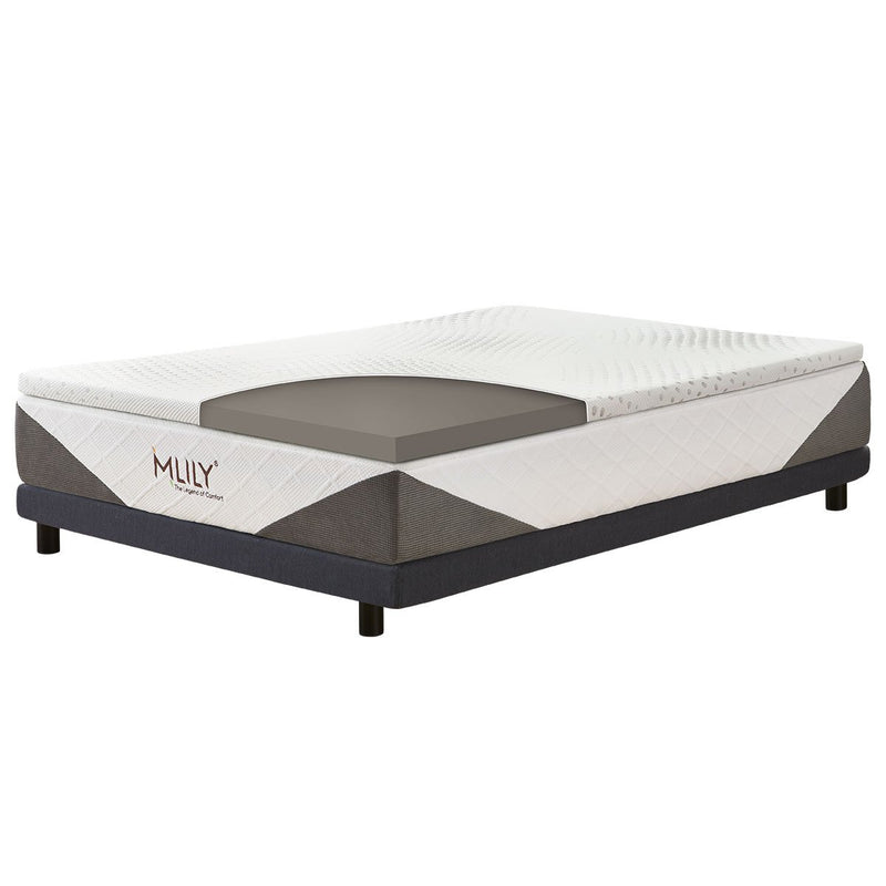 Mlily ENHANCEISELECT BAMBOO CHARCOAL MEMORY FOAM MATTRESS TOPPER - 5cm