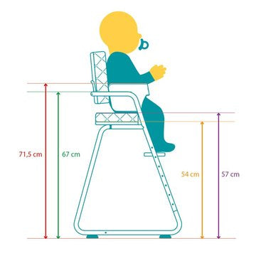 TIBU High Chair Aruba Blue - Barnestol - FRIFRAKT!