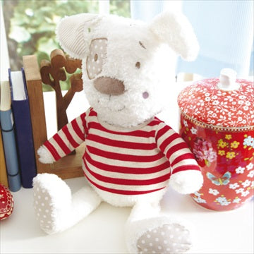 Kosebamse - 'Red & White Stripe Petit Henri Puppy'