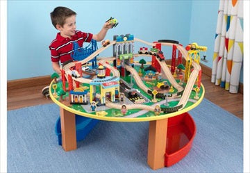 Lekesett - 'City Explorer's Train Set & Table' - FRIFRAKT!