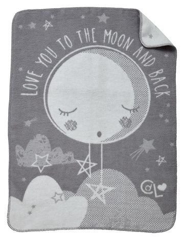 Teppe/Pledd - Over the Moon Fleece Teppe - Hvit/Grå