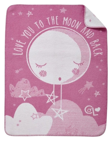 Teppe/Pledd - Over the Moon Fleece Teppe - Hvit/Rosa