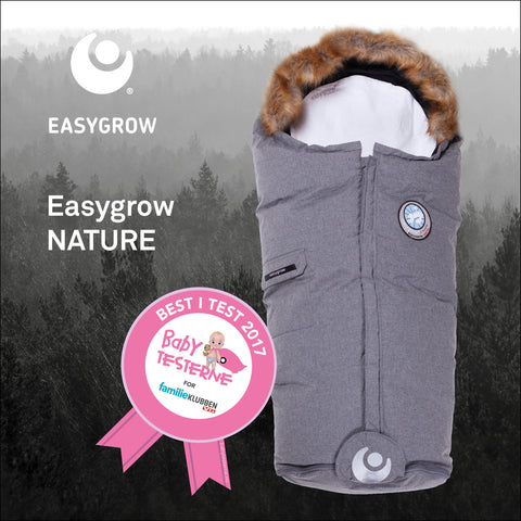 SUPERDEAL Best i Test Easygrow Nature Sleepingbag Solid Grey + Top Bar FRIFRAKT