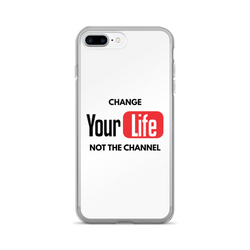 Change Your Life Not The Channel White iPhone Case
