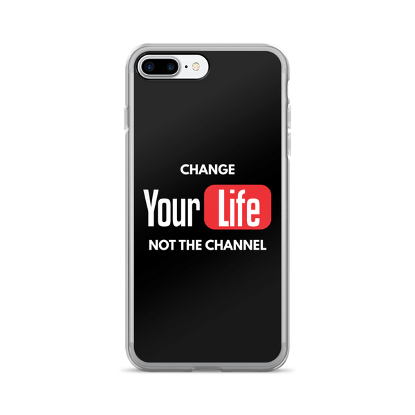 Change Your Life Not The Channel Black iPhone Case