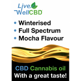 Winterised Cannabis Extract & Hemp Seed Oil Mocha Flavour CBD Oil - LV Well CBD