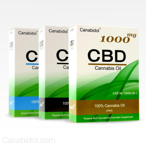 CBD Oil Extract - Canabidol™ - 25% / 50% / 75%