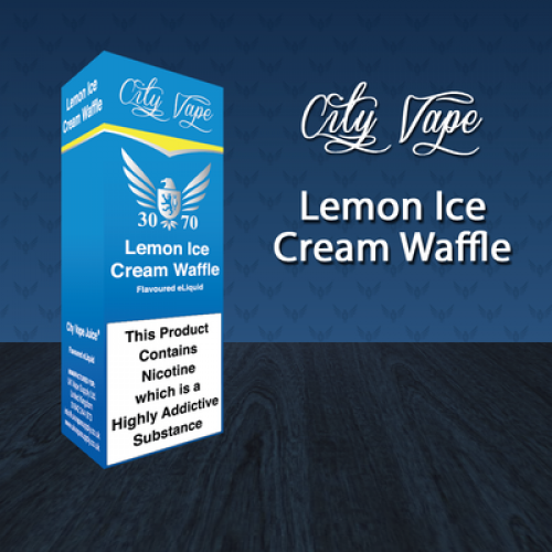 City Vape Lemon Ice Cream Waffle 30/70 E-Liquid