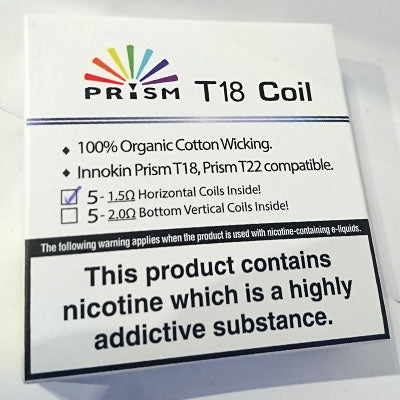 Innokin Prism T18/T22 Genuine replacement coil (1.5ohm)