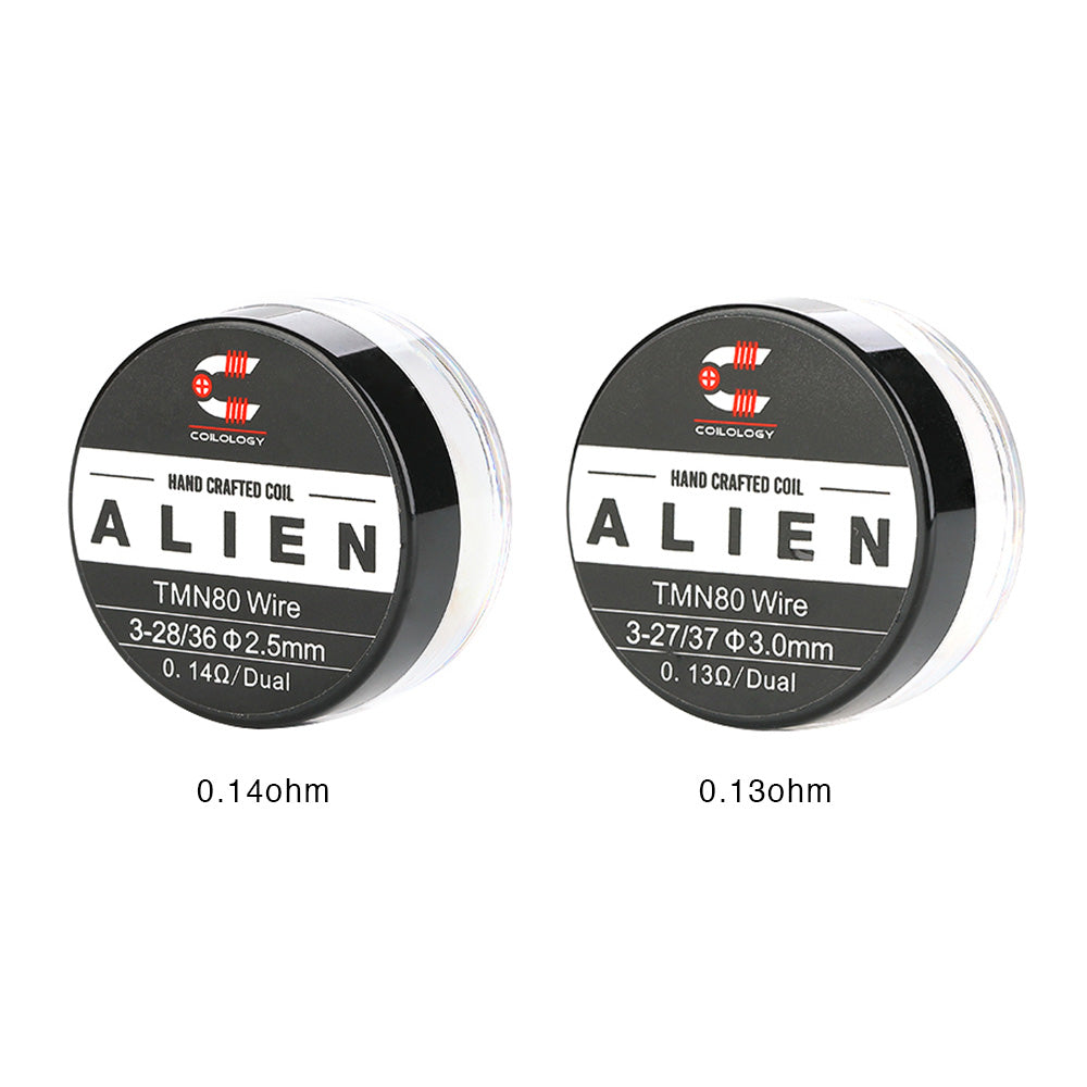 Coilology Pre Built Twisted Messes Alien [Ni80 0.13ohm] [Quality Vape E-Liquids, CBD Products] - Ecocig Vapour Store