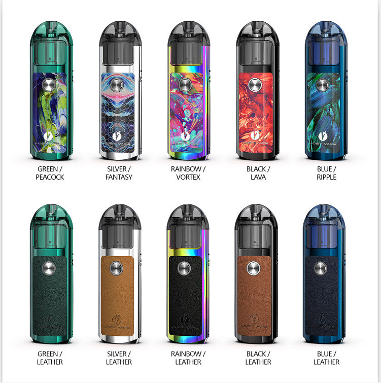 Lost Vape Lyra Pod Kit [Silver/Leather] [Quality Vape E-Liquids, CBD Products] - Ecocig Vapour Store