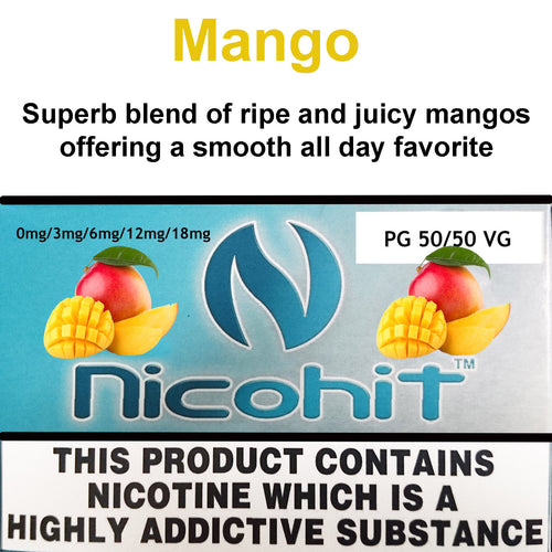 Mango by Nicohit, 50/50 vaping eliquid