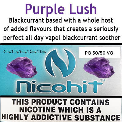 Purple Grape Soda E-Liquid by Nicohit Salt.