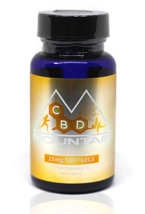 Soft Gels CBD Capsules (Pack of 30) - CBD Mountain - 750mg