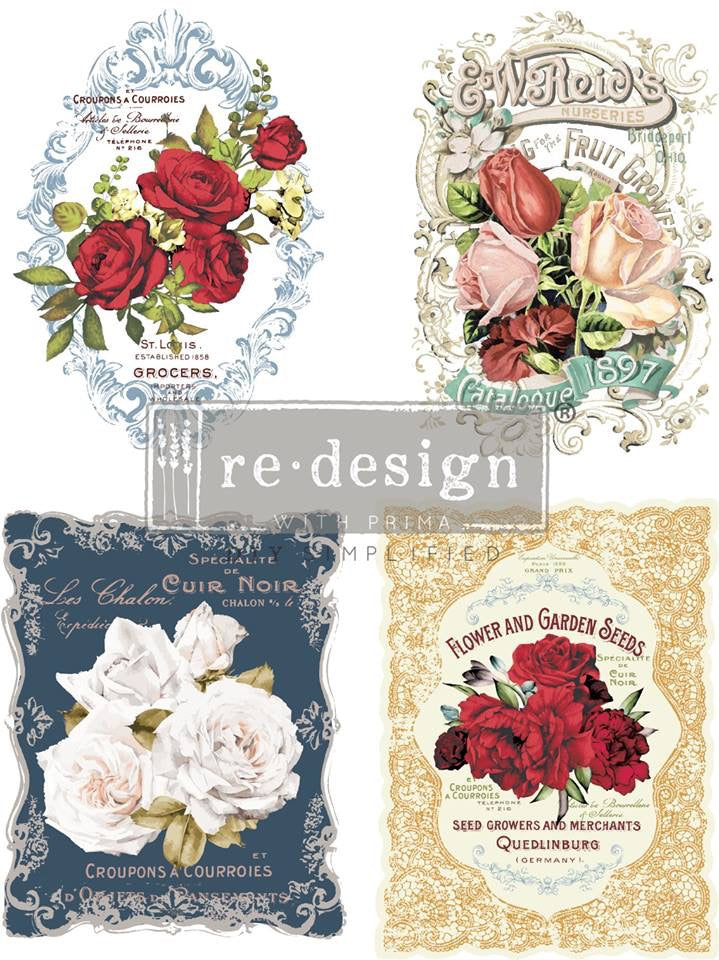 Re-Design Decor Transfers  Re-Design with Prima