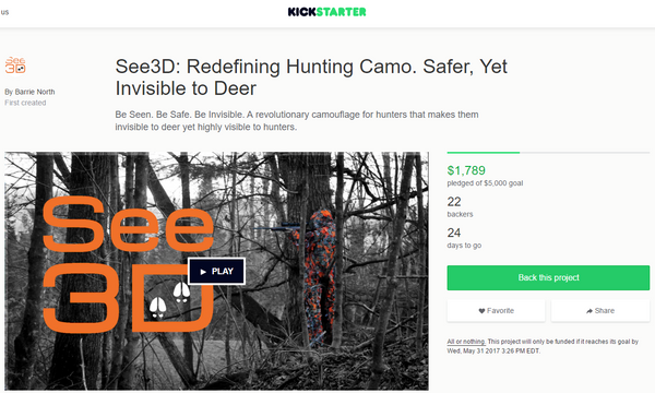 See3D Camo Launches on Kickstarter