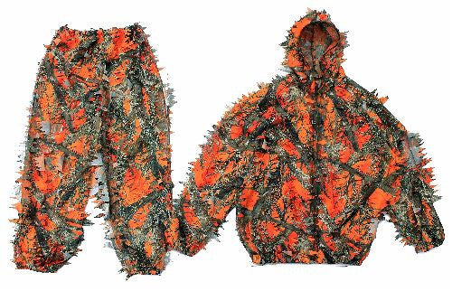 3D Leafy Orange Camo Suit