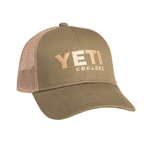 Traditional Trucker Hat Olive Green
