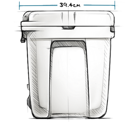 Silo 6G Water Cooler (22.7 L) Exterior Side