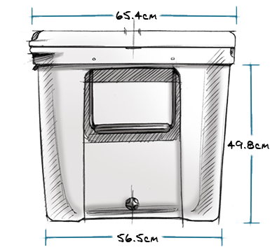 Tundra 210 Hard Cooler Exterior Side