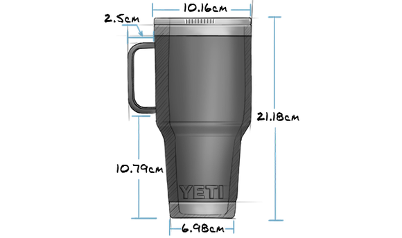 30 oz Travel Mug with Stronghold Lid (887ml) Exterior