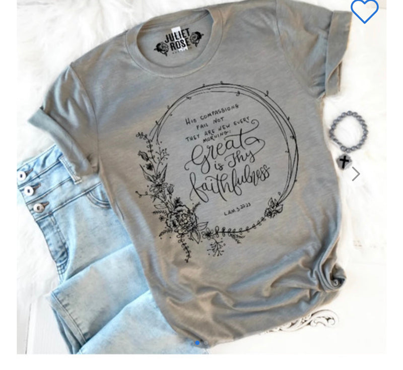 Great is Thy Faithfulness Tee