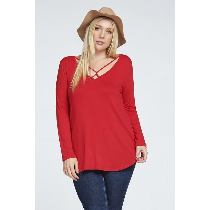 Detail V Neck Top - Studio To Street Boutique