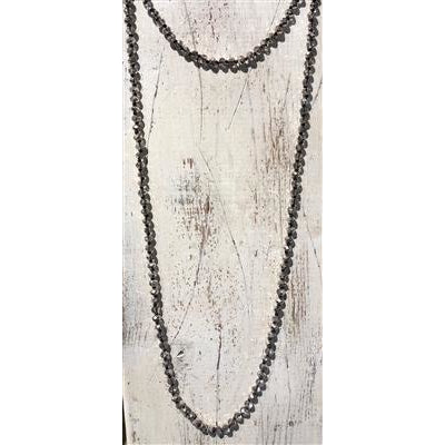 "Black Diamond 60"" Crystal Necklace"