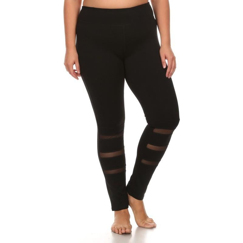 Triple Mesh Curvy Legging - Studio To Street Boutique