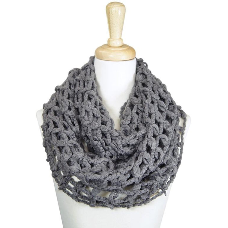 Infinity Cage Knit Scarf