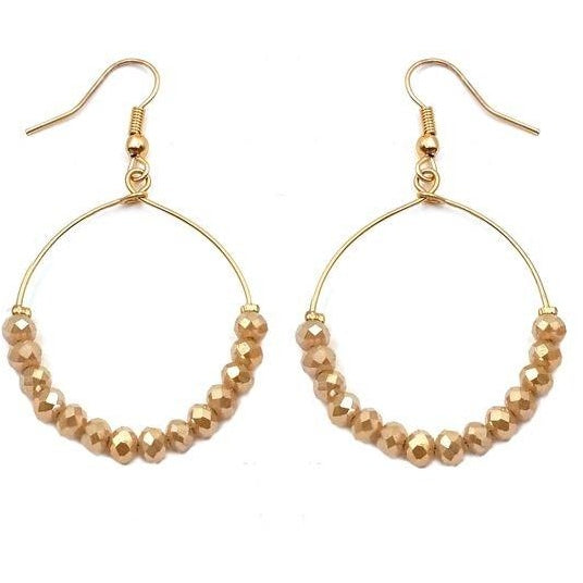 Crystal Hoop Earring - Studio To Street Boutique