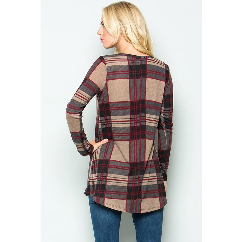 The Plaid Tunic - Studio To Street Boutique