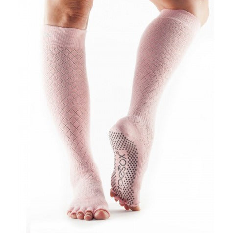 ToeSox Half Toe Scrunch Knee High Grip Socks