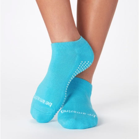 Be Amazing Turquoise/White StickyBe  Grip Socks - Studio To Street Boutique