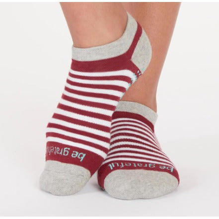 Be Grateful Greyhound Stripe StickyBe Grip Socks