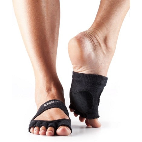 ToeSox Relevé Half Toe With Leather Dance Pad Grip Socks