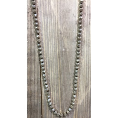 "Hand Knotted 60"" Crystal Necklace - Studio To Street Boutique"