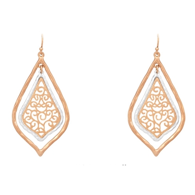 Filigree Teardrop Earrings - Studio To Street Boutique