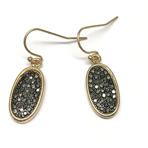 Hemitite Rhinestone Earrings - Studio To Street Boutique