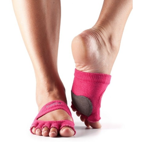 ToeSox Relevé Half Toe With Leather Dance Pad Grip Socks - Studio To Street Boutique