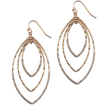Triple Layer Pointed Earrings